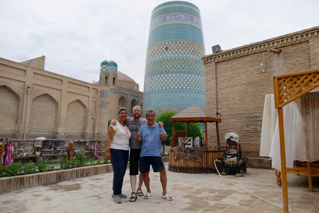 Khiva with Eji, our new travelling mate
