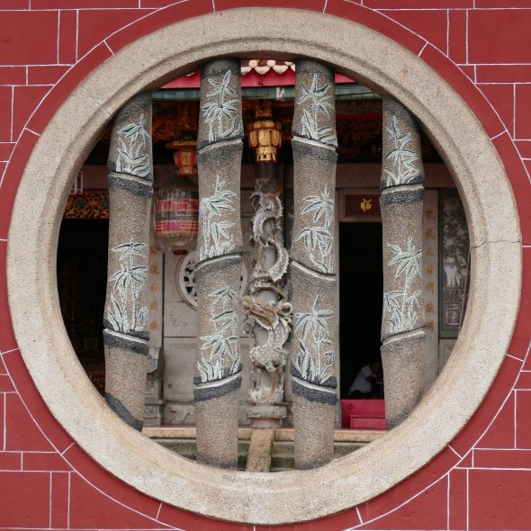 Penang, detail of a Chinese temple