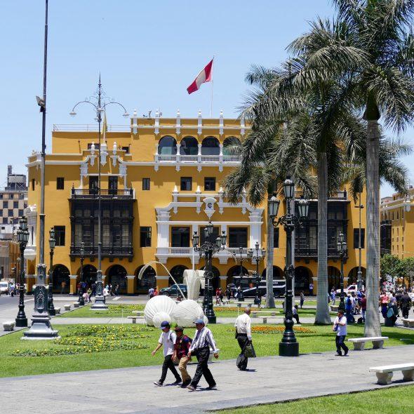 Peru, Plaza de Amas in Lima