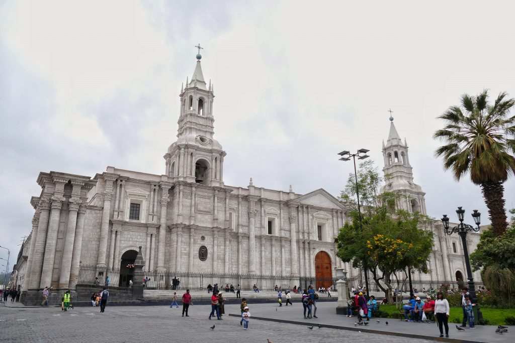 Peru, the Cathedral @ Arequipa