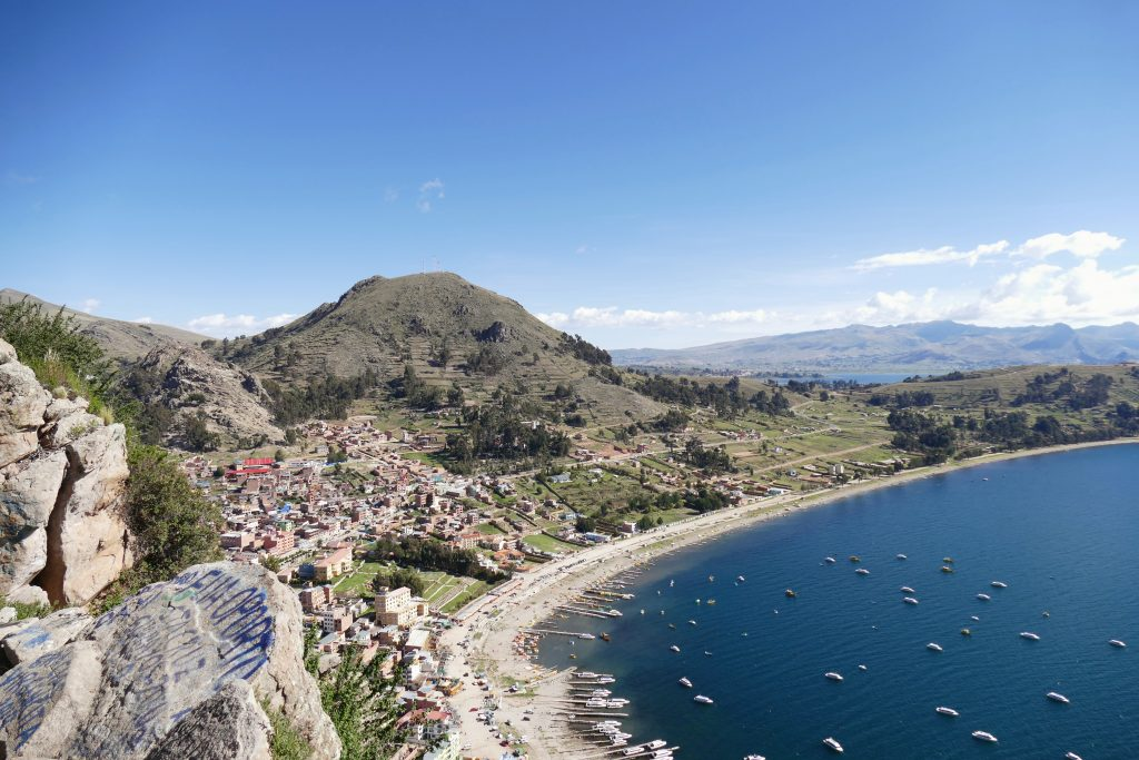 Bolivia, view of Lake Titicaca @ Copacabana