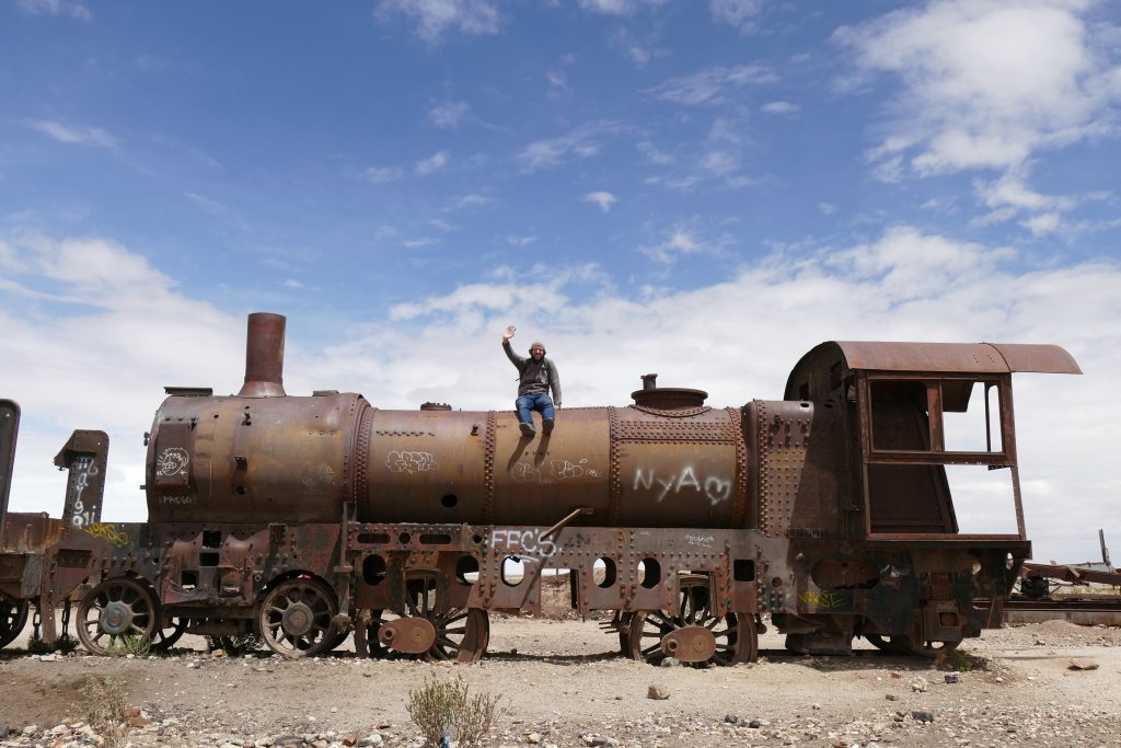Bolivia, cemetery of trains @ Uyuni