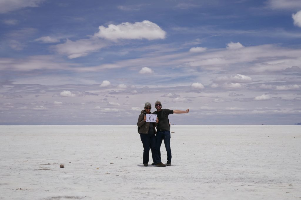 Bolivia, celebrating 300 days on the road @ Uyuni