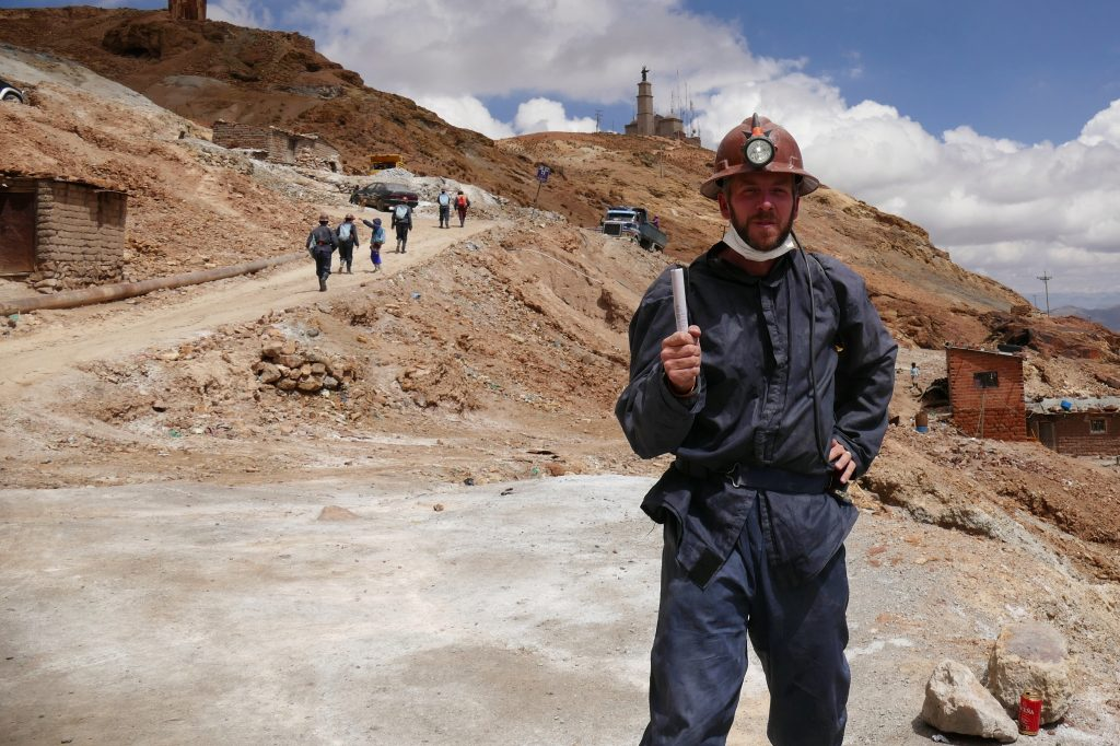 Bolivie, Daniel visitant les mines @ Potosi