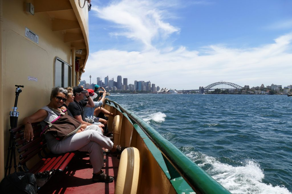 Australia, on a ferry in Sydney
