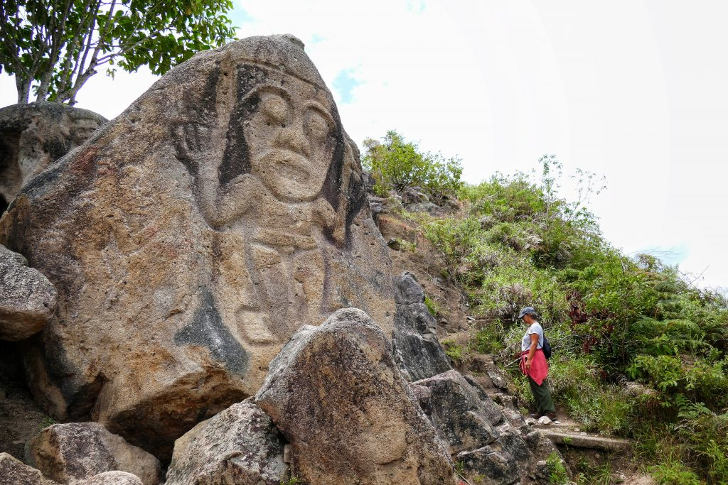 Colombie, statue de pierre La Chaquira @ San Agustin